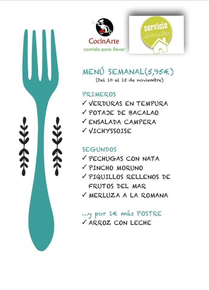 Menú semanal en CocinArte Ciudad Rodrigo