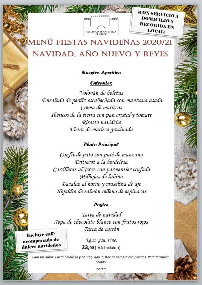 Menú de Navidad en Cafetería – Restaurante El Cruce