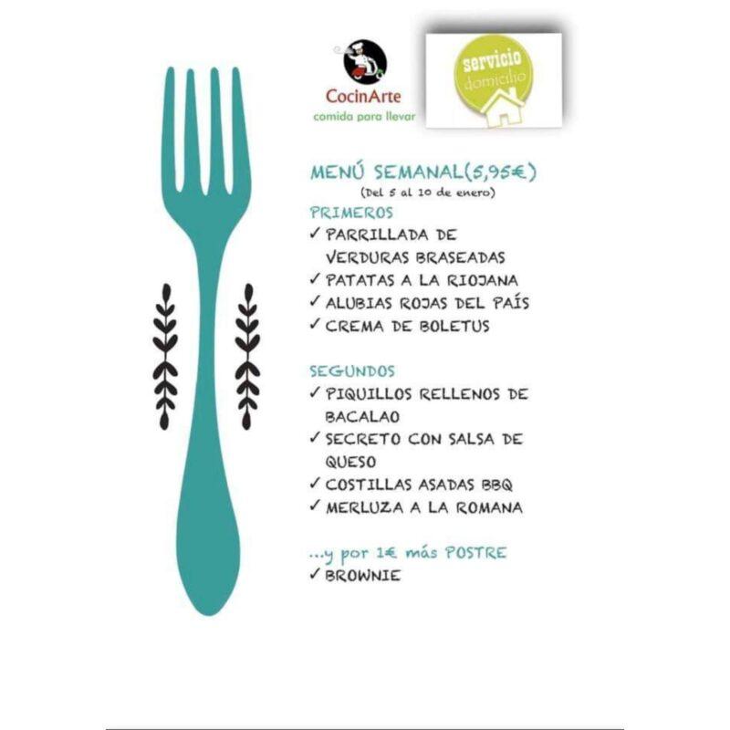 Menú de la semana de CocinArte Ciudad Rodrigo