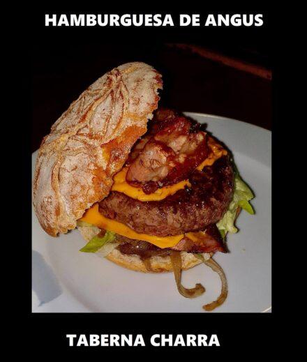 Hoy, para cenar… ¡una hamburguesa de la Taberna Charra!