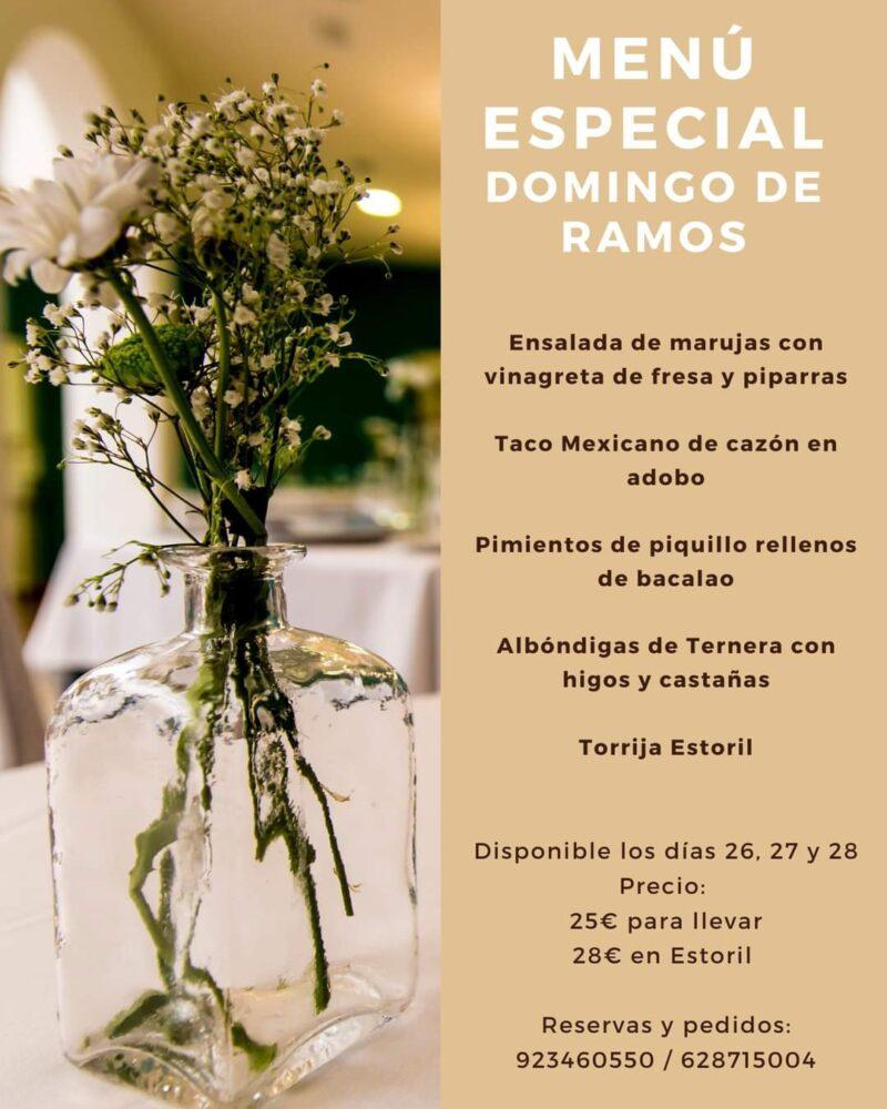Menú Especial Domingo de Ramos – Restaurante Estoril