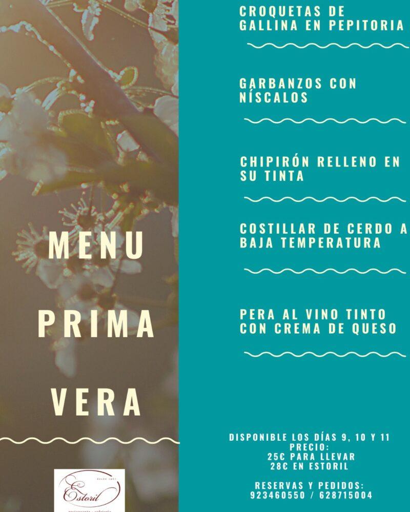Menú Primavera – Restaurante Estoril