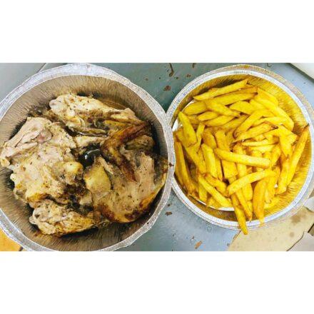 Día de fiesta: día de pollo con patatas